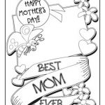 Mothers Day Colouring Pictures Best Online Printable Mothers Day Cards Papaki C