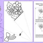 Mothers Day Colouring Pictures Excellent Mother S Day Paper Flower Bouquet Colouring Activity English