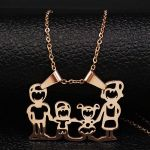 Mothers Day Pictures to Color Marvelous wholesale 2019 Family Boy Girl Stainless Steel Chain Necklace Women