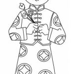 Multicultural Coloring Pages Fresh A Young Boy Holding Flowers Say Happy Chinese New Year Coloring Page