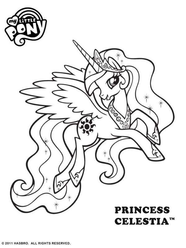 My Little Pony Coloring Awesome My Little Pony Coloring Pages Princess Celestia Coloring Home