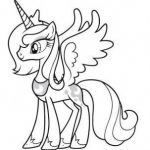 My Little Pony Coloring Pages to Print Elegant Printable My Little Pony Friendship is Magic Princess Luna Coloring