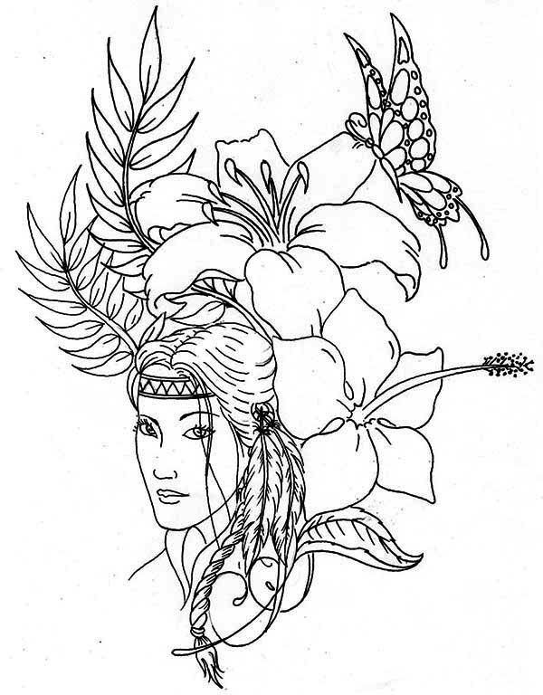 Native American Coloring Books for Adults Marvelous Native American Difficult Coloring Pages