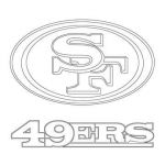 Nfl Logos Coloring Pages Marvelous San Francisco 49ers Logo Coloring Page From Nfl Category Select