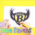 Nfl Mascot Coloring Pages Unique How to Draw Logos 1496 How to Draw and Color the Baltimore Ravens