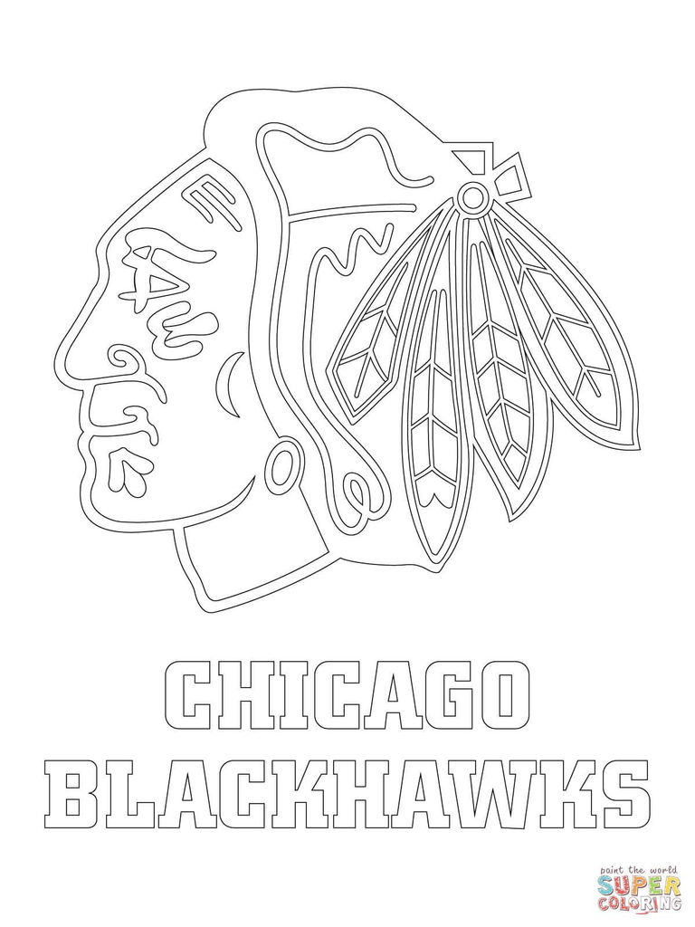 Nhl Coloring Book Marvelous Hawks Coloring Pages