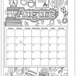 October Coloring Pages Excellent August 2019 Coloring Page Printable Calendar 2019 Calendars