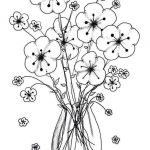 October Coloring Pages Inspiration Amazing Types Bouquet Flowers Cool Vases Flower Vase Coloring