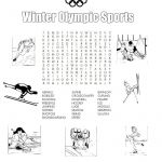 Olympic Color Sheet Beautiful Winter Olympic Sports Printable Word Search Printables for Kids