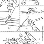 Olympic Color Sheets Amazing athletics Collage Colouring Page Preschool