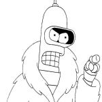 Pages to Color Online Brilliant Futurama Coloring Pages 10 Fun