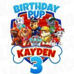 Paw Patrol Names and Pictures Beautiful Paw Patrol Iron Transfer Bone Birthday Pup In 2019