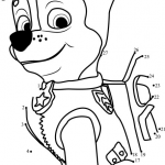 Paw Patrol Pictures to Print Pretty Chase Dot to Dot Printable Worksheet Connect the Dots
