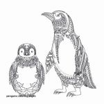 Pengiun Coloring Page Wonderful Coloring Picture Penguins Best Christmas Penguin Drawing at