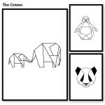 Penguin Pictures to Print Brilliant Geometric Animals Panda Penguin Elephant Wall Poster Wall