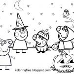 Peppa Pig Coloring Book Marvelous Coloring Page Amazing Free Halloween Coloring Sheets Peppa Pig