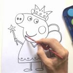 Peppa Pig Coloring Book Marvelous Peppa Pig Coloring Book Pepa the Queen
