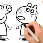 Peppa Pig Coloring Book Wonderful How to Draw Peppa Pig and Suzy Sheep Coloring Pages Learn Colors