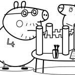 Peppa Pig Coloring Book Wonderful Peppa Pig Castle Drawing & Painting Daddy Pig Mummy Pig Coloring