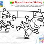 Peppa Pig Coloring Books Exclusive Peppa Pig Ice Skating Coloring Books Printable Coloring Pages for Kids
