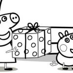 Peppa Pig Coloring Books Inspiration Peppa Pig Presents Coloring Pages Free Coloring Sheets