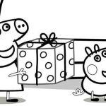 Peppa Pig Coloring Pages Creative Peppa Pig Presents Coloring Pages Free Coloring Sheets