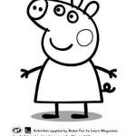 Peppa Pig Coloring Pages Inspiration Peppa Pig Template for Birthday Cake