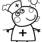 Peppa Pig Coloring Pages Inspired Stunning Coloring Pages Pig for Adults Picolour