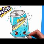 Petkins Season 4 Shopkins Inspired How to Draw Shopkins Season 1 soda Pops Step by Step toy Caboodle