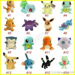Pictures Of Eevee Beautiful Plush Dolls Ball 20cm Stuffed Pikachu Plush toys Leafeon Glaceon