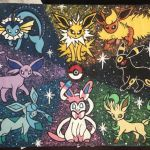 Pictures Of Eevee Inspiration Used Eevee Evolution Painting for Sale In Houston Letgo