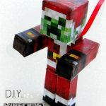 Pictures Of Minecraft Creeper Awesome Diy Minecraft Creeper Santa ornament