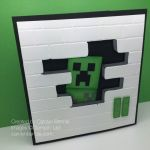 Pictures Of Minecraft Creeper Exclusive Minecraft Creeper Birthday Card Carolynbennie Carolyn Bennie