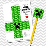 Pictures Of Minecraft Creeper Inspiring Minecraft Creeper Valentine Pencil topper by Inkchickdesigns $4 00