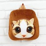 Pictures Of Pusheen the Cat Pretty Pusheen School Bag with 3d Cat Head Printing Super soft Short Plush