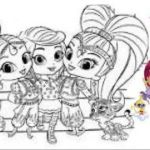 Pictures Of Shimmer and Shine Awesome √ Shimmer Shine Coloring Pages and Chic Design Shimmer and Shine