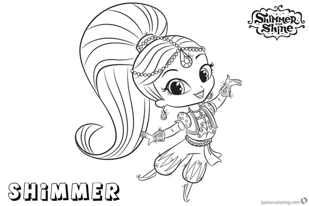 Pictures Of Shimmer and Shine Best Coloring Pages Shimmer and Shine 650 434 Shimmer and Shine
