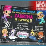 Pictures Of Shimmer and Shine Inspiring Shimmer and Shine Invitation Template – Mjangir