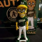 Pictures Of Sugar Skulls Awesome Used Oakland A S Sugar Skull Bobblehead for Sale In Hayward Letgo