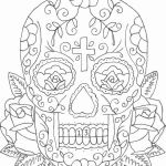 Pictures Of Sugar Skulls Excellent Lovely Candy Skulls Coloring Pages – Lovespells