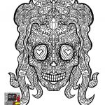 Pictures Of Sugar Skulls Marvelous Lovely Sugar Candy Skulls Coloring Pages – Doiteasy