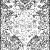 Pictures to Color for Adults Pretty Courageous Positive Word Coloring Book Printable Coloring Book for
