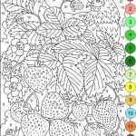 Pictures to Print and Color for Adults Amazing Nicole S Free Coloring Pages Color by Numbers Strawberries and