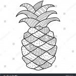 Pineapple Coloring Book Brilliant Fresh Pineapple Coloring Page 2019
