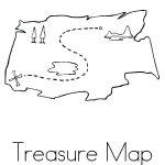 Pirate Coloring Books Inspiration Treasure Map Coloring Page Pirate Maps Pages Blank Template Pag