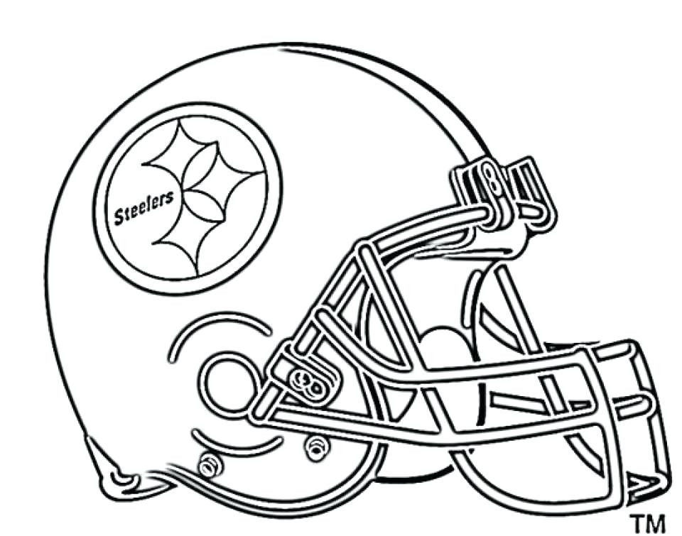 Pittsburgh Steeler Coloring Pages Best Steelers Coloring Page Football Helmet Coloring Page New Football