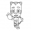 Pj Mask Clipart Wonderful Cat Boy Malvorlagen
