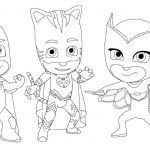 Pj Masks Coloring Pages Beautiful Pj Mask Coloring Page Cat Boy for Kids