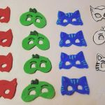 Pj Max Pictures Best Pj Mask Fondant Cupcake toppers Pj Masks Birthday