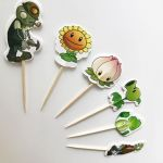 Plant Vs Zombies Pictures Inspiration 96pcs Plants Vs Zombies Peashooter Candy Bar Cupcake toppers